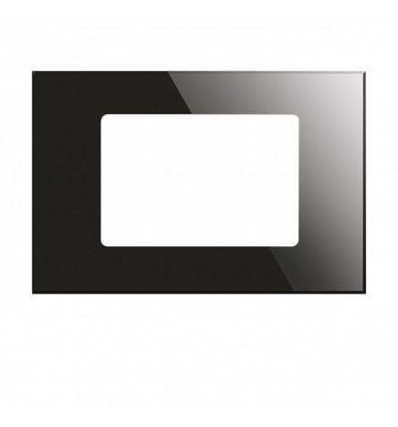 BX KNX KRISTAL Cover Vetro Temperato Nera 3 Moduli BX-R10B