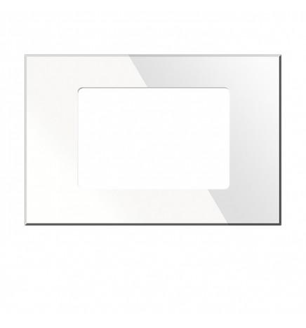 BX KNX KRISTAL Cover Vetro Temperato Bianca 3 Moduli BX-R10W